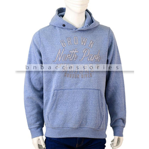 BnB Accessories North Park Printed Hoodie for Men Blue