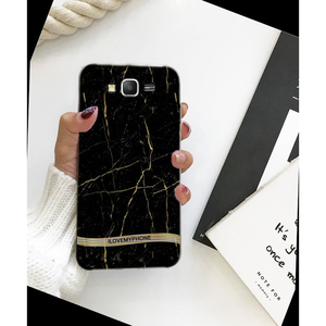 Samsung J7 2015 Marble Style Mobile Cover Black