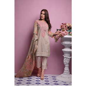 Oaks 3 Pcs Unstitched Suit for Women OLE-3501-A Multicolor