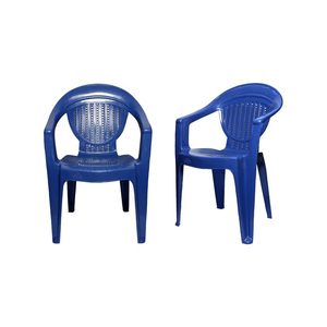 Venus Stylish Plastic Outdoor Chair Set of 2 TBL-TRL-152 Blue