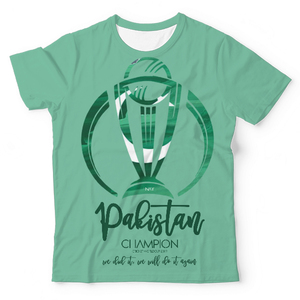 The Warehouse Cricket World Cup Pakistan Unisex All Over Printed T-shirt Green & White