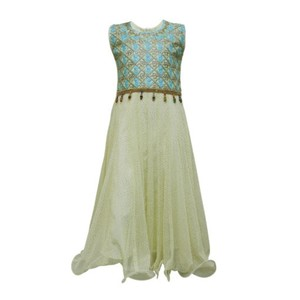 Girl Sleeveless Frock Embroidered Maxi Style Dress ...