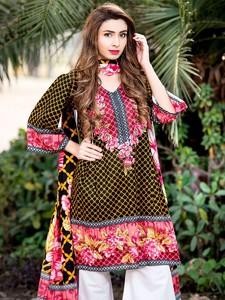 4 Pieces Unstitched Sapna Lawn for Women 5176-C M ...