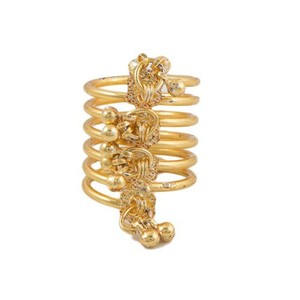 Challa Style Ring for Unisex J093 Golden