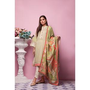 Oaks 3 Pcs Unstitched Suit for Women OL3P-10379-B Multicolor