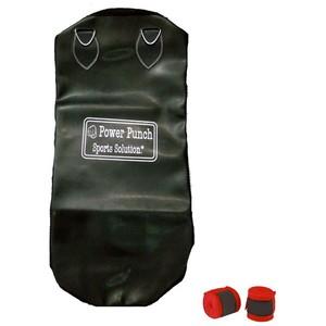 Power Boxing Punching Sand Bag mma hand wrap Black