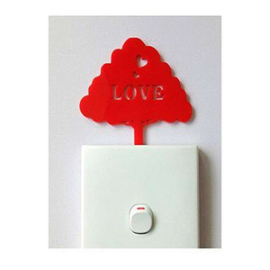 Red Tree Love Acrylic Wall Art Red