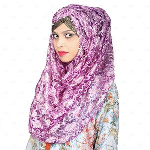 Women Net Hijab Pn055 Purple