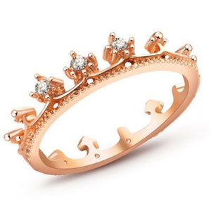 Drill Crown Ring Jewelry Ring For Women Gold