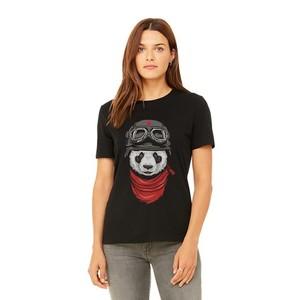 Cotton Panda Printed T-Shirt For Women Ace021 - Bl ...