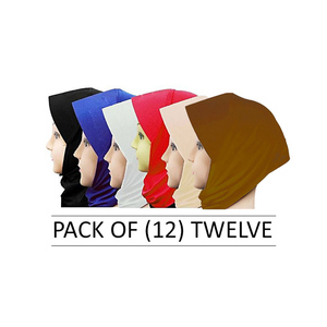 Pack of 12 Hijab Caps for Women SAS-HC-1 ...