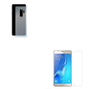 2.5D Tempered Glass Protector + Back Protector for Samsung J7 Transparent