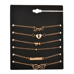 Zardi 6 Pieces Anklet Set ANK21 Golden