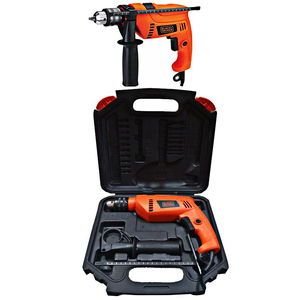 Black+Decker Hammer Drill Machine 650W Orange