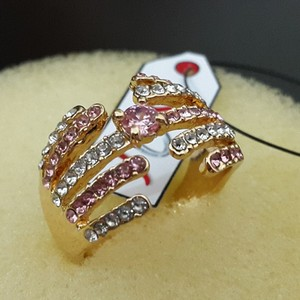 JOS Glorious Zirconea Ring in Rose Polish 483 Gold ...