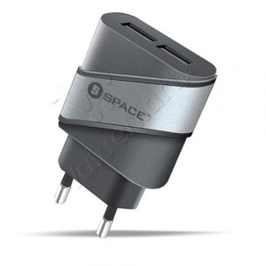 SPACE WC-112 Dual Usb Port Wall Charger
