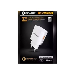 SPACE Quick Charge 2.0 WC-122 (Single Port) Mobile Charger