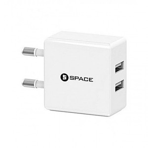 SPACE WC-102 Dual USB Port Wall Charger