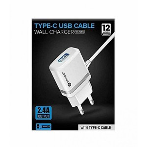 SPACE TYPE C USB CABLE WALL CHARGER WC-105c MOBILE CAHRGER