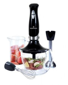 Westpoint Deluxe Hand Blender  Chopper And Beater - WF-4201 - 600 Watts - Black