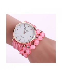Archertees Pink Crystal Diamond Bracelet Watch for Women - AT-W12