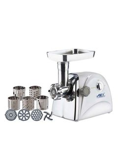 Anex AG-2049 - Meat Grinder & Vegetable Cutter - White