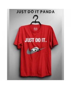 Rex Bazaar Multicolor Cotton Just Do It Panda Printed T-shirt For Women - Rx-571