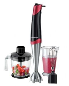 Westpoint WF-9816 - Deluxe Hand Blender  Beater And Chopper - Red