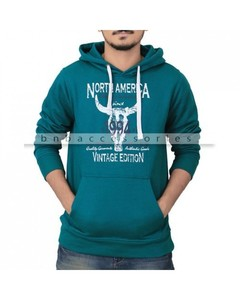 BnB Accessories Green Pullover Hoodie With Graphic Print - NWP-261-M