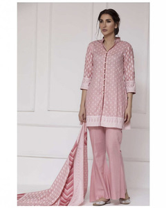 ZS Textile Pink Rangreza Printed Lawn Unstitched Suit - 3 Piece Volume 10