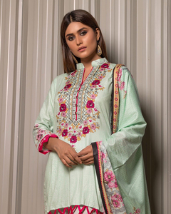 Rangreza Green Lawn Unstitched 3-Pc Suit - Volume 1 - 5a