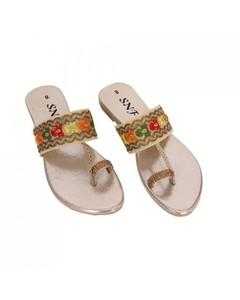 SnF Golden Slippers For Women