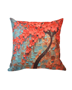Rizaries 3D Tree Cushion Cover - Red - 45x45cm