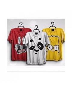 Rex Bazaar Pack Of 3 Cotton Printed T-Shirt - Ts-23