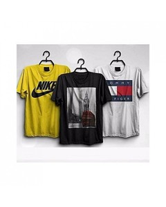 Rex Bazaar Pack Of 3 Cotton Printed T-Shirt For Him - Ts-231