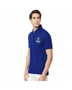 Aybeez Royal Blue Karachi King Collar T-Shirt For Men - Abz-813