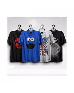 Rex Bazaar Pack Of 4 Cotton Printed T-Shirt For Him - Ts-139