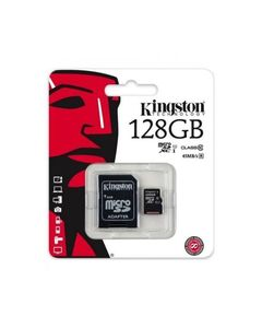 Kingston 128 GB Class 10 Micro SD Card - Black