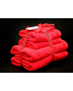 Alkaram Towel 6 - Piece Towel Set - Red
