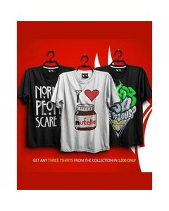 Rex Bazaar Pack Of 3 Cotton Printed T-Shirt For Him - Ts-311