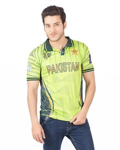 Rubian Green Polyester Pakistan World Cup 2015 Official Cricket T-Shirt