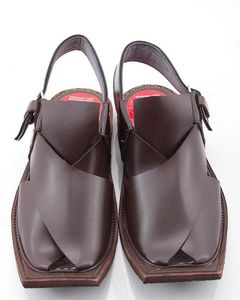 Milano Mall Brown Cow Leather Peshawari Sandals for Men