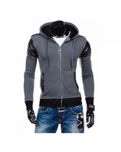 Wear IT Grey Fleece Zipper Hoodie Style for Men - WI-Coat08-M