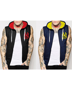 Aybeez Pack of 2 Sleeveless Funky Colored Hoodies For Men - Abz-310