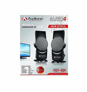 Audionic Alien 4 2.0 Portable Speakers With Ac Power  Color: Black