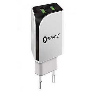 Space Dual Port USB Wall Charger With iOS Lightning Cable  Product No. WC-111