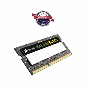 Corsair Value Select 8GB DDR3 1600MHz SODIMM RAM for Notebook  Product No. CMSO8GX3M1A1600C11
