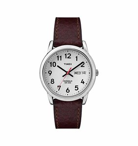 Timex Easy Reader Day & Date Leather Strap Watch  Product No: T20041
