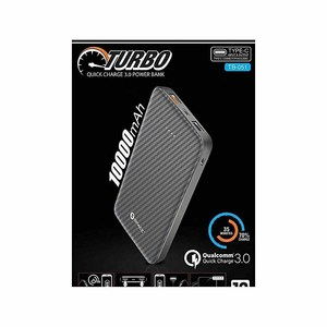 Space TURBO With Qualcomm® Quick Charge 3.0 10000 mAh Power Bank Color  Black  Product No. TB-051
