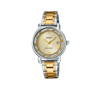 Casio LTP-E120SG-9ADF ENTICER Series Analog Stainless Steel Gold Ion Plated & Triple Fold Clasp Watch (Copy)